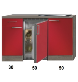 Kitchenette Imola Rood Glans 130cm KIT-88
