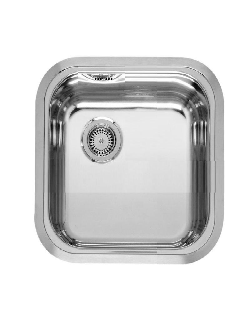 keukenblok 120 x 60 cm met een la + RVS aanrechtblad en wandkasten KIT-4413