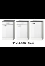Kitchenette Lagos wit Hoogglans 120cm met magnetron KIT-01