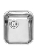 Keukenblok 160 Antraciet incl rvs spoelbak en koelkast en magnetron KIT-414