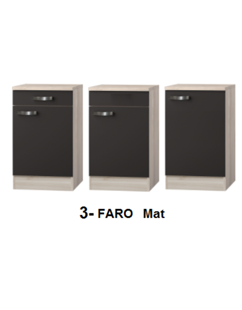 Kitchenette Faro Antraciet 130cm incl rvs spoelbak KIT-5264