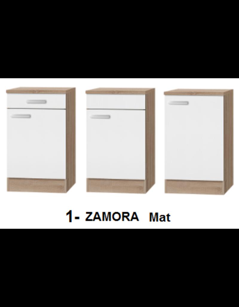 Mini-keuken COMPACT Turijn 100 cm White excl. e-kookplaat incl. spoelbak KIT-1229
