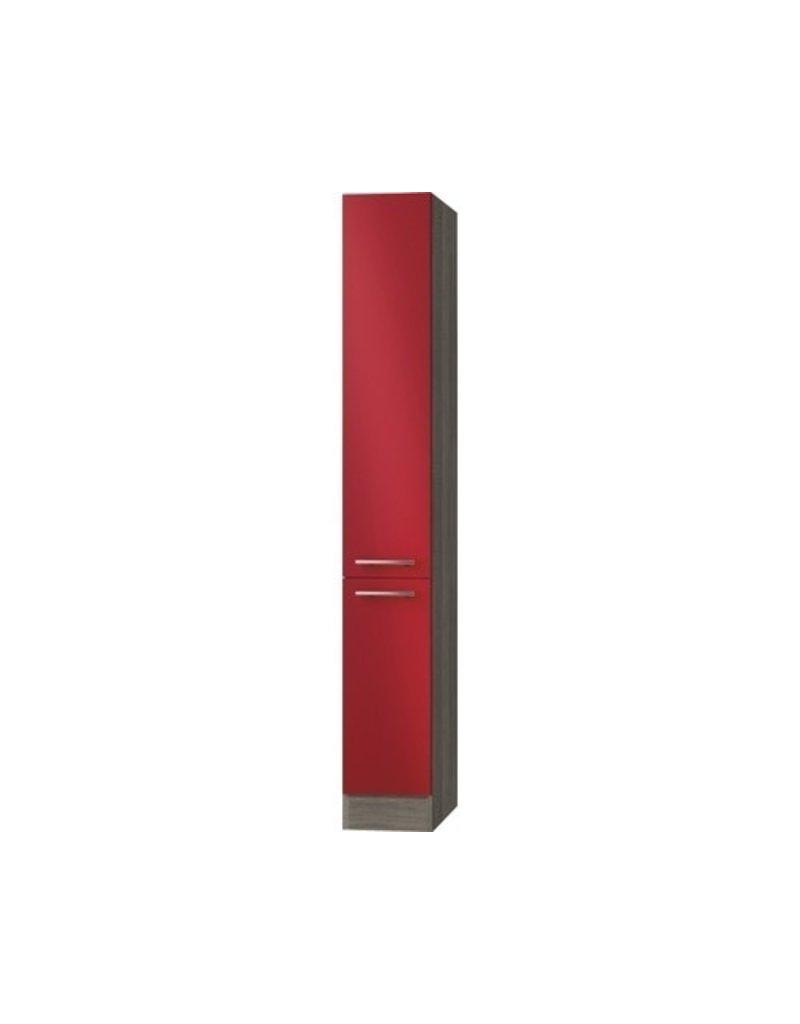 Kitchenette Rood 130cm met koelkast POTTO-641