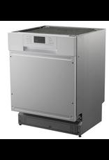 Kitchenette 160cm wit hoogglans met vaatwasser en koelkast en kookplaat KIT-4532