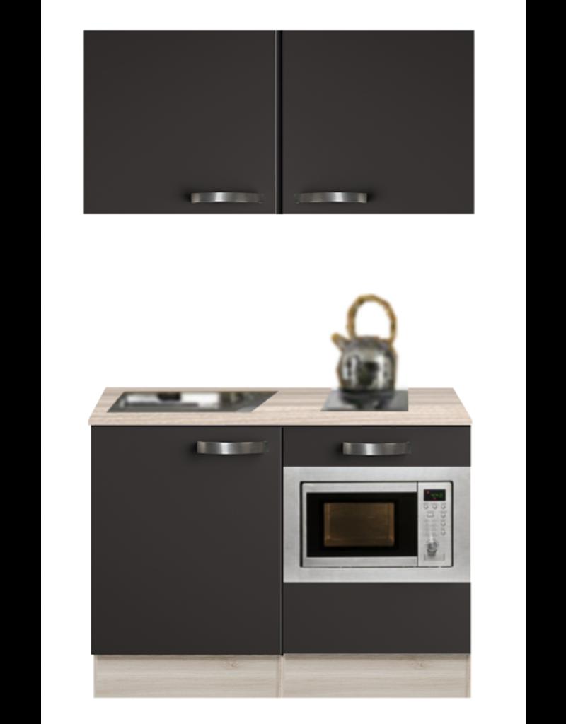 Kitchenette Antraciet 120cm met onderbouw magnetron KIT-0208