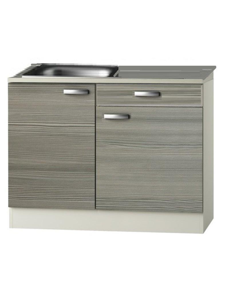 Keukenblok Grijs-bruin Vigo 120cm KIT-512