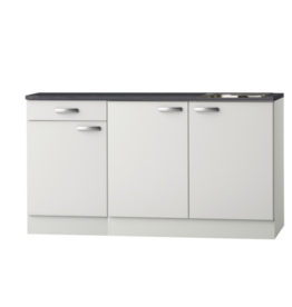 Kitchenette Wit Hoogglans 160 cm incl rvs spoelbak KIT-5255