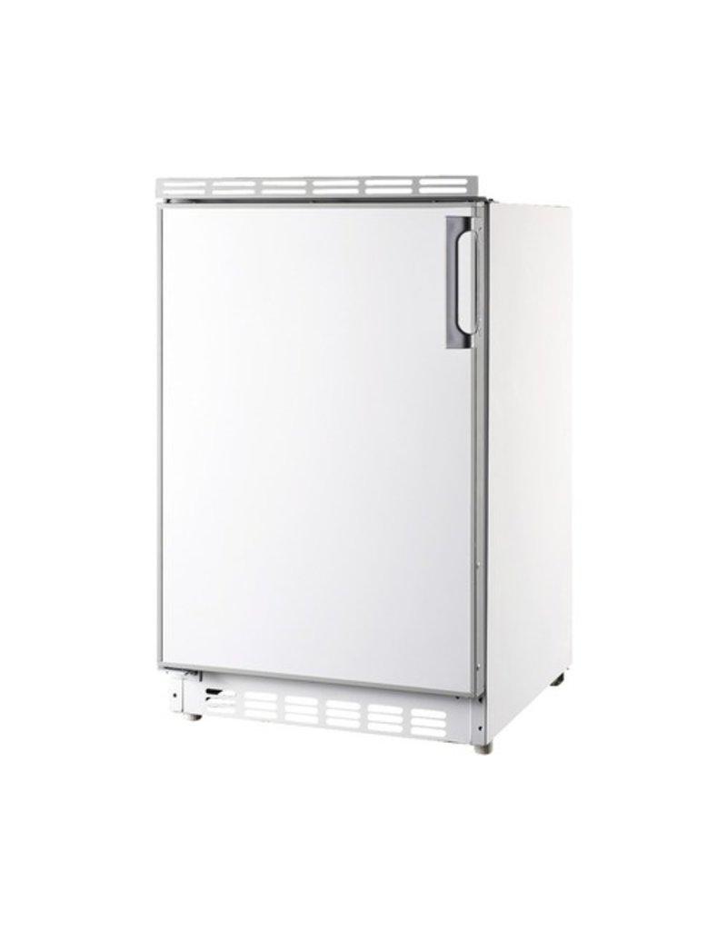 Kitchenette 200cm wit hoogglans met vaatwasser en koelkast en kookplaat KIT-448