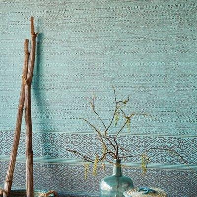 Eijffinger Eijffinger Siroc Wallpower 376090 Tapestry Turquoise