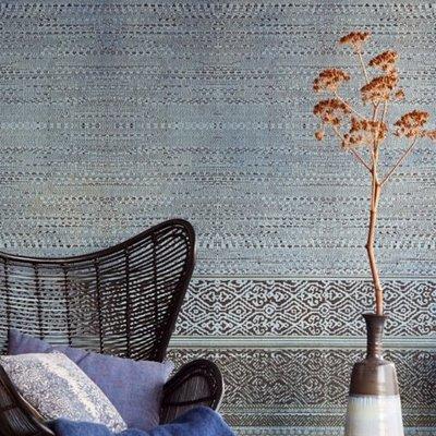 Eijffinger Eijffinger Siroc Wallpower 376092 Tapestry Indigo Shibori