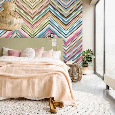 Eijffinger Eijffinger Stripes+ Wallpower 377212 Floral Street Chevron