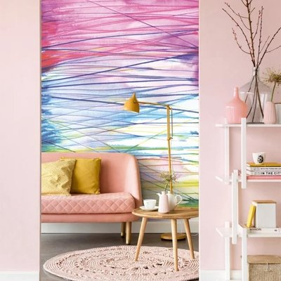Eijffinger Eijffinger Stripes+ Wallpower 377209 Aqualines Summer