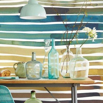 Eijffinger Eijffinger Stripes+ Wallpower 377215 Aquastripe Ochre
