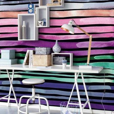 Eijffinger Eijffinger Stripes+ Wallpower 377216 Aquastripe Dark