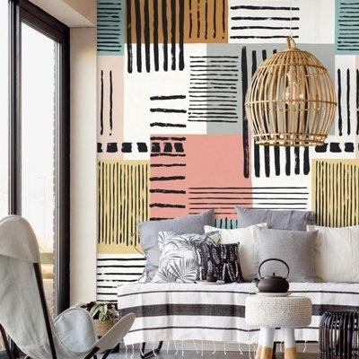 Eijffinger Eijffinger Stripes+ Wallpower 377205 Painted Patchwork XL
