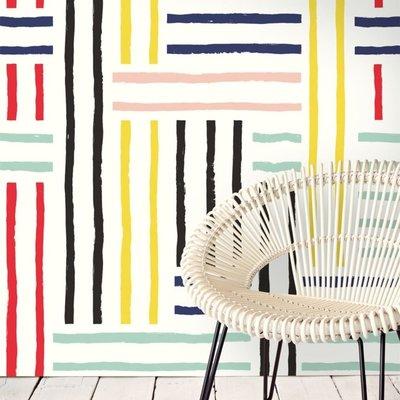 Eijffinger Eijffinger Stripes+ Wallpower 377204 Breton Patch XL