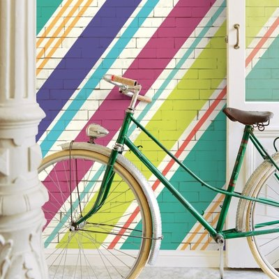 Eijffinger Eijffinger Stripes+ Wallpower 377207 Diagog Bricks