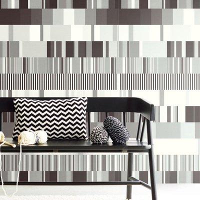 Eijffinger Eijffinger Stripes+ Wallpower 377201 Ulti Multi B&W