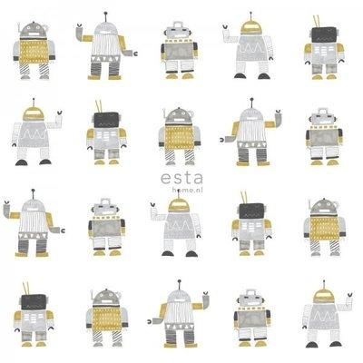 Esta for kids Esta Home Little Bandits Vintage Robots behang 138940