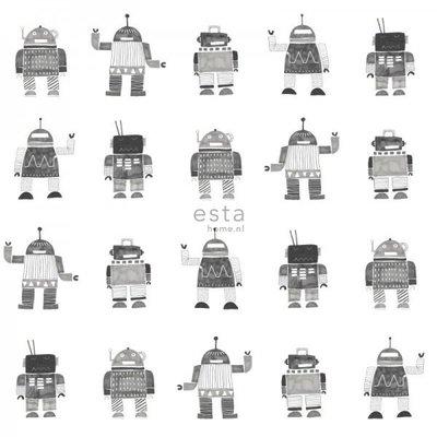 Esta for kids Esta Home Little Bandits Vintage Robots behang 138939