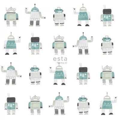 Esta for kids Esta Home Little Bandits Vintage Robots behang 138938