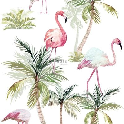 Esta Home Esta Home Jungle Fever Wallpaper XXL Flamingo's 158844