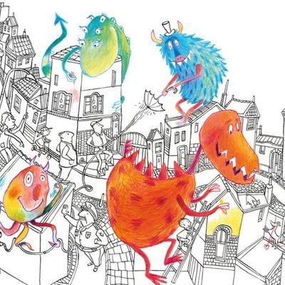 Kek Amsterdam KEK Amsterdam Kids mural Alice Hoogstad Monsters WS-076
