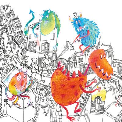Kek Amsterdam KEK Amsterdam Kids mural Alice Hoogstad Monsters WS-075