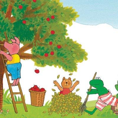 Kek Amsterdam KEK Amsterdam Kids mural Max Velthuijs Picking Apples WS-063
