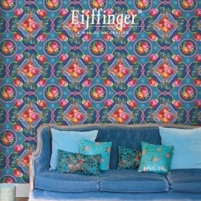 Pip studio Eijffinger Pip Studio II Wallpower Singing Roses blue 313112