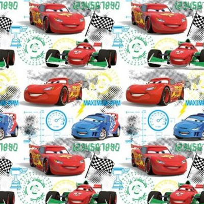 Dutch Wallcoverings Dutch Disney Cars Sart Grid behang WPD 9701