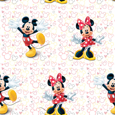 Dutch Wallcoverings Dutch Disney Mickey Mouse & Minnie behang WPD 9748