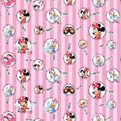 Dutch Wallcoverings Dutch Disney Minnie Mouse & Daisy name tags behang WPD 9746