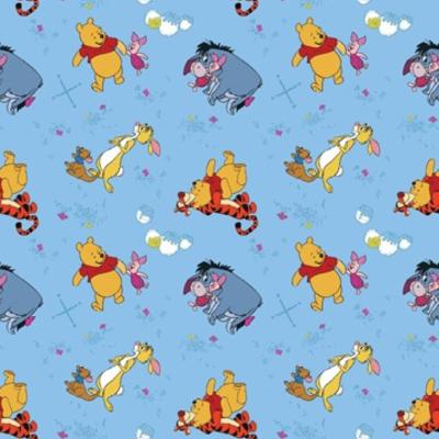 Dutch Wallcoverings Dutch Disney Winnie the Pooh on blue behang WPD 9720