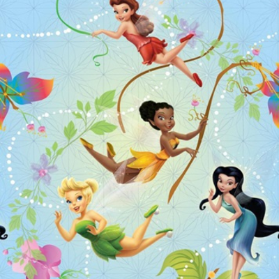 Dutch Wallcoverings Dutch Disney Fairies behang WPD 9711