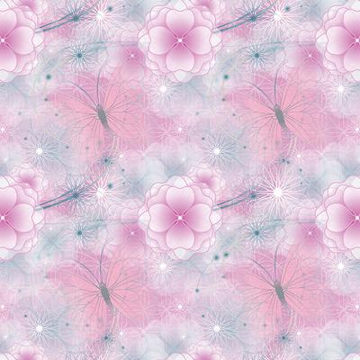 Dutch Wallcoverings Dutch Disney Fairies pink flowers background behang WPD 9737