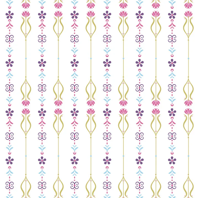 Dutch Wallcoverings Dutch Disney Frozen floral pattern behang WPD 9739