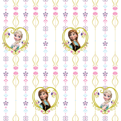 Dutch Wallcoverings Dutch Disney Frozen Anna & Elsa hearts behang WPD 9738