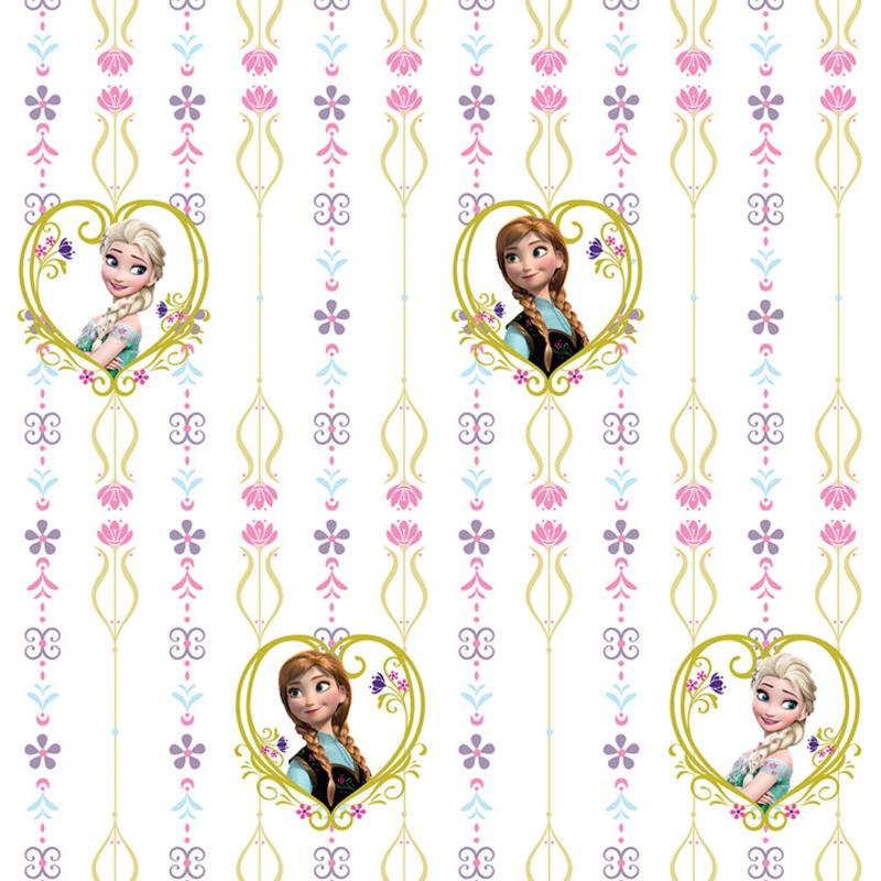 Dutch Wallcoverings Dutch Disney Frozen Anna & Elsa hearts behang WPD 9738
