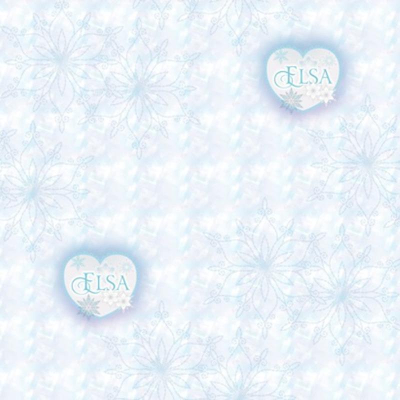 Dutch Wallcoverings Dutch Disney Frozen Elsa hearts behang WPD 9751