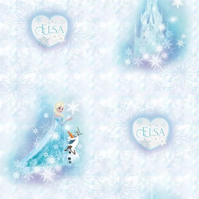 Dutch Wallcoverings Dutch Disney Frozen Elsa & Olaf behang WPD 9750