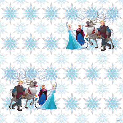 Dutch Wallcoverings Dutch Disney Frozen snowflakes behang WPD 9732
