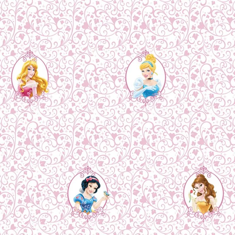 Dutch Wallcoverings Dutch Disney Princess flourishes pattern behang WPD 9742