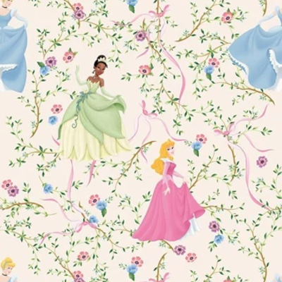 Dutch Wallcoverings Dutch Disney Princess flower behang WPD 9705