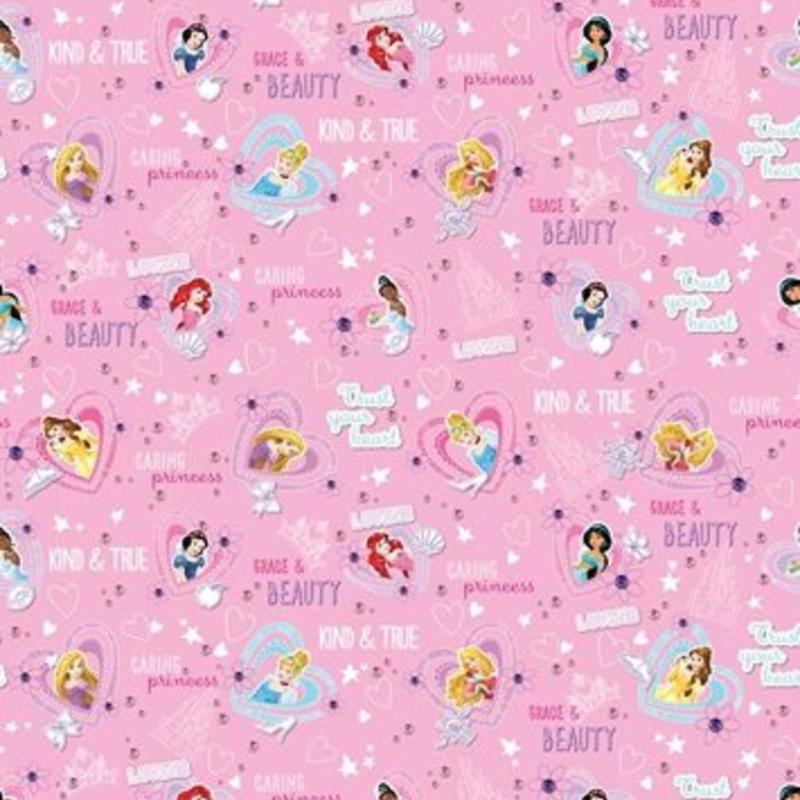 Dutch Wallcoverings Dutch Disney Princess Cinderella hearts pink behang WPD 9709