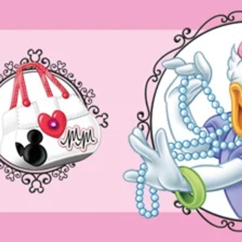 Dutch Wallcoverings Dutch Disney Minnie Mouse & Daisy behangrand WBD 8067