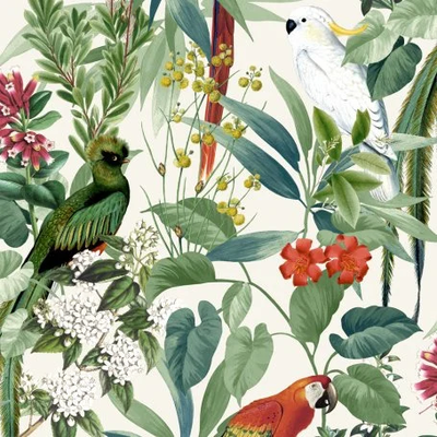 Dutch Wallcoverings Dutch Escapade behang Tropische Vogels 576204