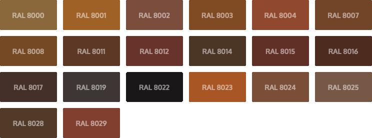 RAL Classic kleuren - bruin