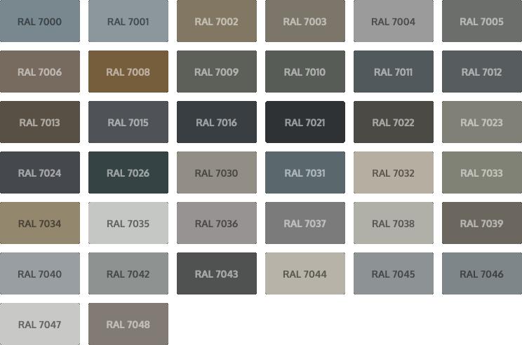 RAL Classic kleuren - grijs