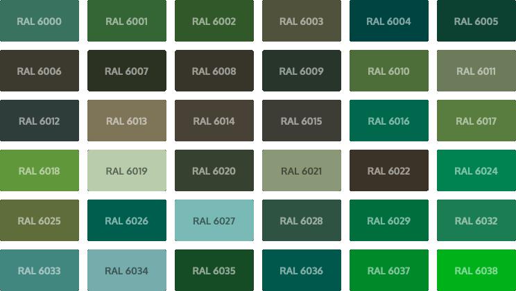 RAL Classic kleuren - groen